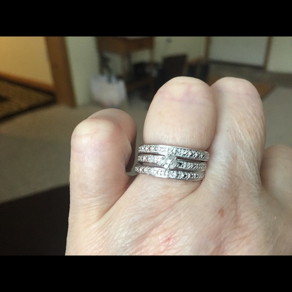 87 off BRADFORD EXCHANGE Jewelry Beautiful Genuine Diamond Ring Set